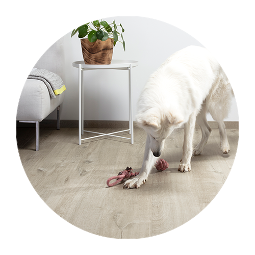 Scratch-resistant vinyl floors